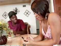 hawt ebony girl fucked by her step brother