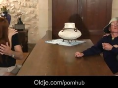 two retired oldmen acquires younger fucking