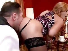 family villein licking hot blond lady