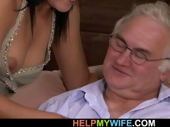 old chap watches his wife screwed