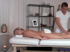 massage rooms horny blond has her asshole